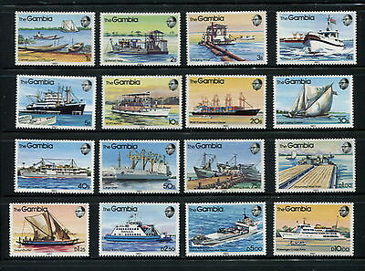 Gambia 1983  #465-80  ships boats transport ferries  16v.  MNH  F511