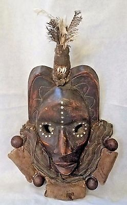Authentic Antique African  Initiation Mask ~ Congo ~ Early~Mid 20Th C.