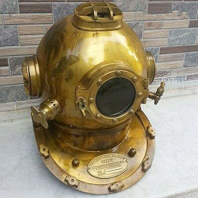 Antique Scuba Diving Divers Helmet Mark V U S Navy Deep Sea Vintage Replica Dive