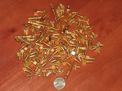 13 Ozs (368 Grams) High Grade Gold Plated Connector Ends For Recovery