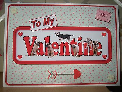 Handmade Border Terrier Dogs Valentine Card Valentine's Day Sign To My Hearts