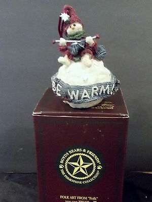 "Boyd's Bears Ingrid ""Be Warm"" Snowball--Christmas ornament- 1997"