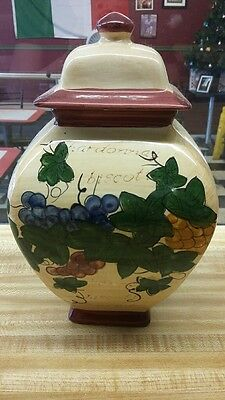 Biscotti Jar 10 inches tall never used