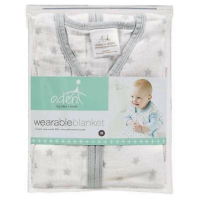 Aden® by Aden + Anais® Wearable Blankets - White/Gray - M