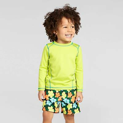 Toddler Boys' Long-Sleeve Rash Guard Cat & Jack™ - Neon Yellow