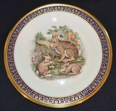 "Cottontail Rabbits Plate in ""Woodland Wildlife"" by Lenox - FREE SHIPPING"