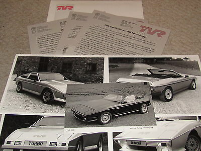 Tvr 1982 Birmingham Motor Show Press Pack Tasmin 350I Tvr Turbo