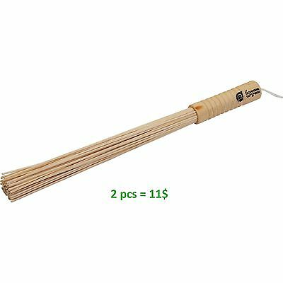 BAMBOO BROOM for sauna. 2 pieces for one price. Great massage.