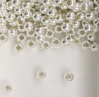 925 Sterling Silver 3mm Seamless Round Spacer Beads Choice of Lot Size & Price