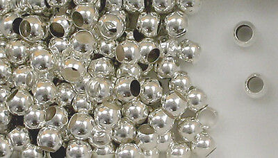 925 Sterling Silver Spacer 6mm Round, 3.5mm Hole Beads, Choice of Lot Size