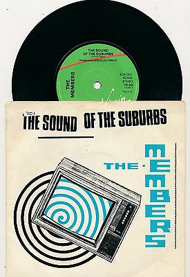 """THE MEMBERS - Sound Of The Suburbs - 7"""" 45 rpm single"""