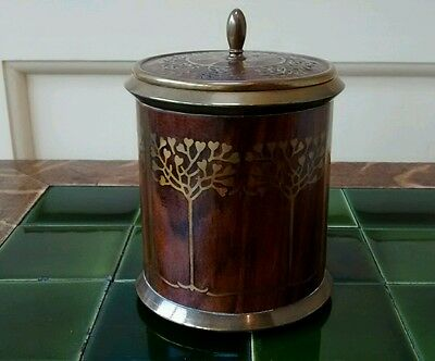 Art Nouveau Secessionist brass and rosewood humidor - Erhard and Sohne, Germany