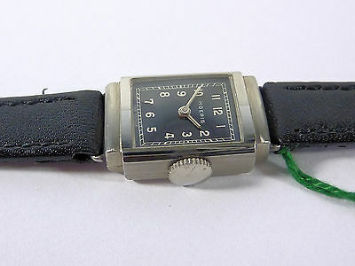 Art Deco Damen Armbanduhr Moeris Swiss Made 15 Rubis Edelstahl Um 1940