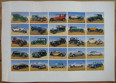 Rolls-Royce poster from cigarette card uncut