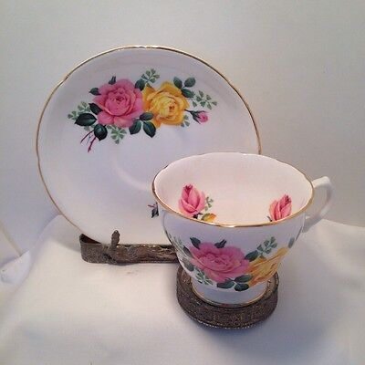 Royal Imperial Finest Bone China Cup and Saucer Made In England Vintage - Roses