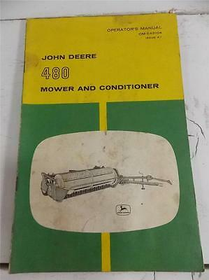John Deere Operators Manual 480 Mower And Conditioner Free Shipping