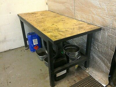 workshop garage bench very strong new top fitted.