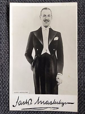 Jasper Maskelyne Autograph Signed Photograph The War Magician WW2 Publicity Card