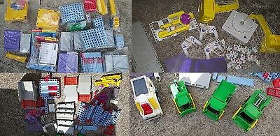 Rokenbok Construction Set With Remote Control Cars & Manuals - 100's of Pieces
