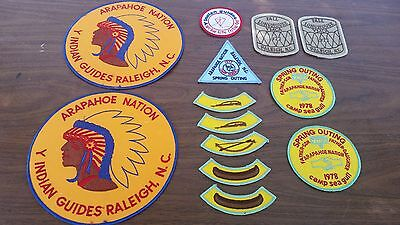 Vintage YMCA Y Indian Y-Indian Guides Unused Cloth Patch Set - Lot of 13