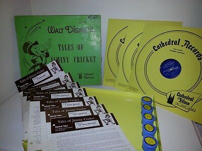 Walt Disney's Tales of Jiminy Cricket Filmstrip Record Set Cathedral Filmstrips
