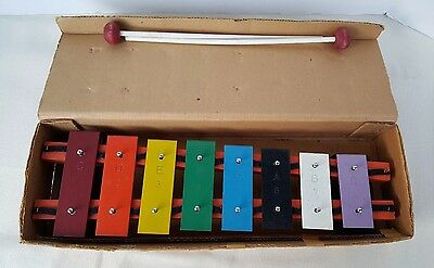 Vintage Student Xylophone Rhythm Band Instruments RB2305 Child S 8 Note Bell Set