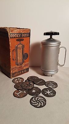 Vintage Mirro Copper Aluminum Cooky Press  No. 2789-AM Easy-Grip Cooky Press