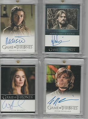 Game Of Thrones Season 3 Auto Lena Headey Bordered Autograph
