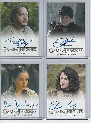 Game Of Thrones Season 4 Auto Daniel Portman Full Bleed Autograph