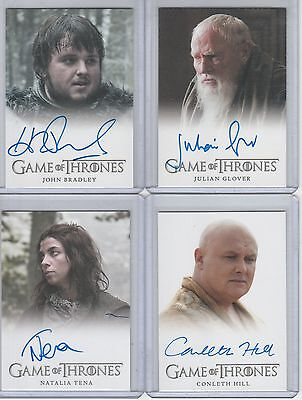 Game Of Thrones Season 3 John Bradley Full Bleed Autograph