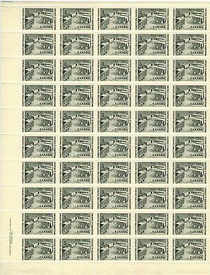 Canada Stamp #431 Inscription Sheet 50 stamps Plate 1 LL MNH Conf Memorial
