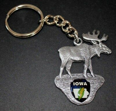 Iowa - Moose Key Chain