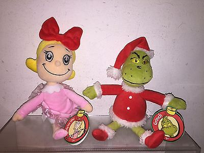 Dr Seuess The Grinch & Cindy Lou Who Plush Figures