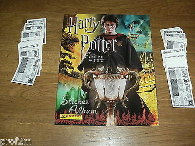 * Rare ! * panini HARRY POTTER et la coupe de feu (2005) album + 250 stickers