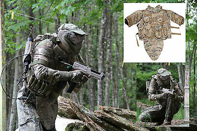 MOLLE TiPX MagFed Rig Multi-Camo LOAD CARRIER/PROTECTION Vest Airsoft Paintball