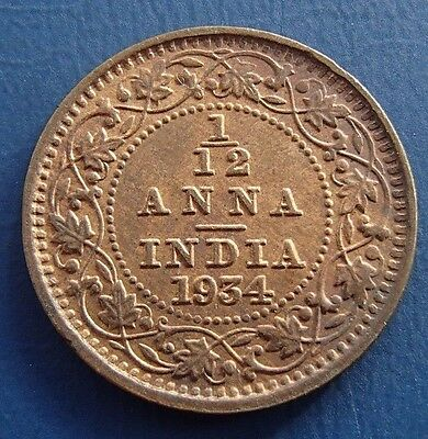 India 1934 One Twelth 1/12 Anna - High Grade -  601