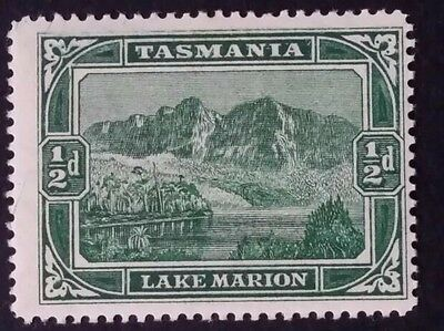 1899 Tasmania Australia 1/2d Deep Green Lake Marion Pictorial Stamp Mint - st931