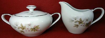 EMPRESS Japan china GRANADA 1954 pattern Creamer & Sugar with Lid SET