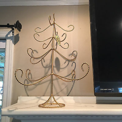 Vintage 2001 Thomas Pacconi Gold Tone Christmas Tree Ornament Stand~New