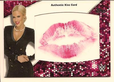 Lana 2016 Topps Wwe Then Now Forever Authentic Diva Kiss Card /99