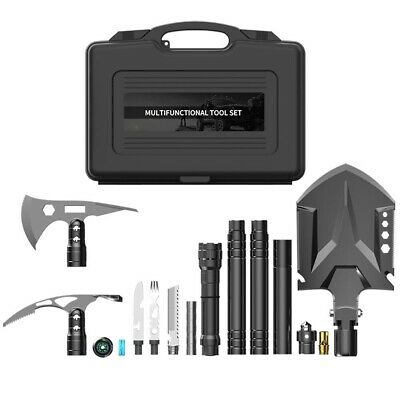 Multi Military Function Tool Spade Shovel Saw Camping Survival Army Flint Knife
