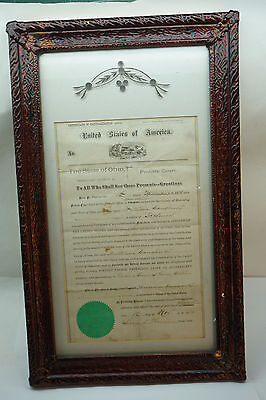 1876 Naturalization Certificate Irish William Daugherty Youngstown Oh Genealogy