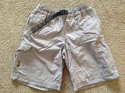 Columbia Quick Drying Wicking Grey Gray Mesh Line Shorts Trunks Youth L