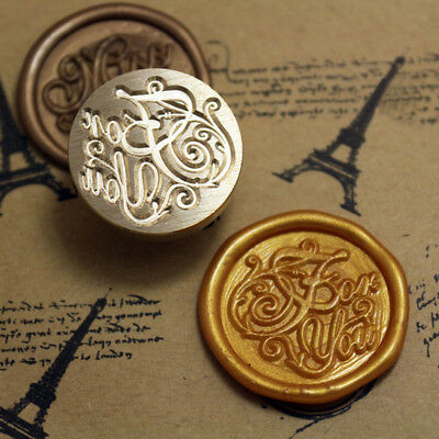 For You Words Initial Letter Sealing Wax Seal Stamp Classic Vintage Kit