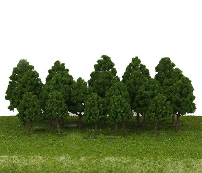 20x Train Layout Model Trees 1:75-200 HO-Z Scale Park Forest Diorama Scenery