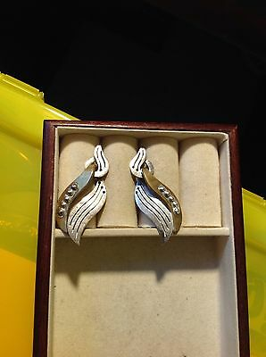Vintage Mexico Taxco Sterling Silver 925 Earrings 15 Grams