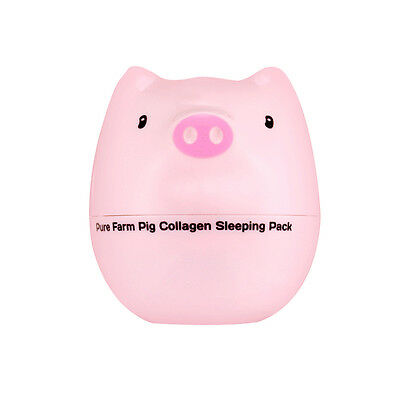 TONYMOLY Pure Farm Pig Collagen Sleeping Pack 80g Free gifts