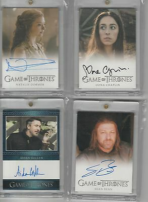 Game Of Thrones Season 5 Auto Natalie Dormer Full Bleed Autograph
