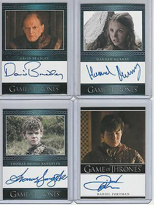 Game Of Thrones Season 3 Auto Daniel Portman Bordered Autograph