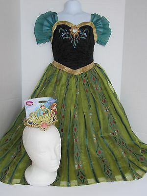 Disney Store Frozen Princess Anna Deluxe Coronation Dress Costume Size 7/8